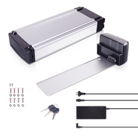 DEHAWK R1T E-Bike Battery Kit, Electric Bicycle Luggage Rack Battery Set, 36V, incl. Holder and Charger